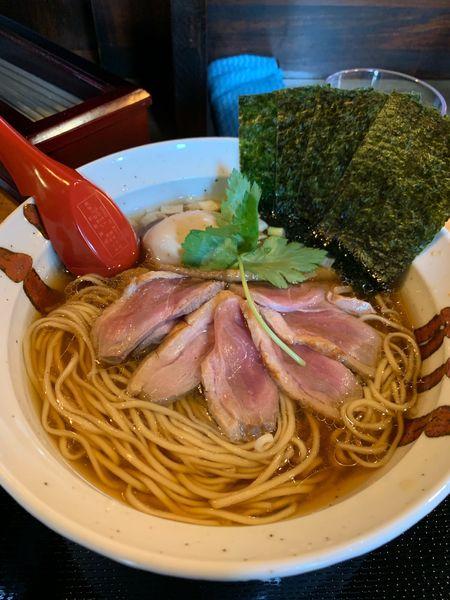 「鴨清湯醤油ラーメン 特製」@鴨麺 あら井の写真