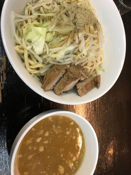 「魚介豚骨つけ麺平日ランチ@580」@自家製太麺 ドカ盛 マッチョ 難波千日前店の写真
