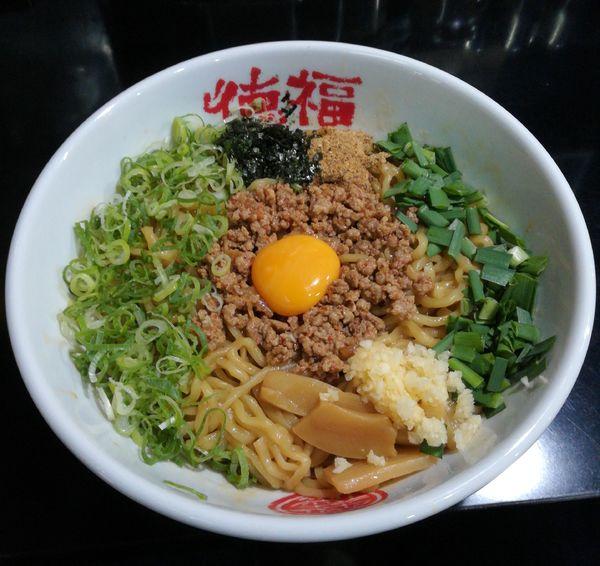 「台湾まぜそば·追い飯付き」@徳福 八幡店の写真