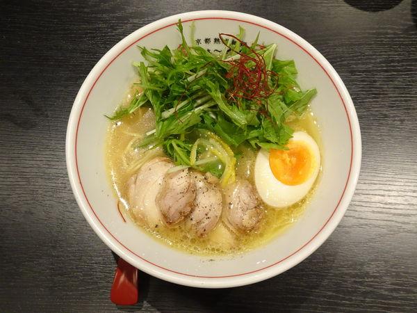 「鶏しおらぁ~めん」@京都熟成細麺らぁ~めん 京 河原町三条店の写真