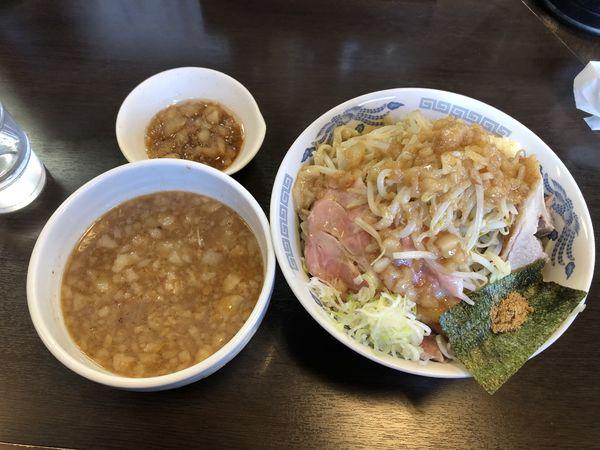「つけ麺大ローストポーク」@ラーメンどでん 大宮西口店の写真
