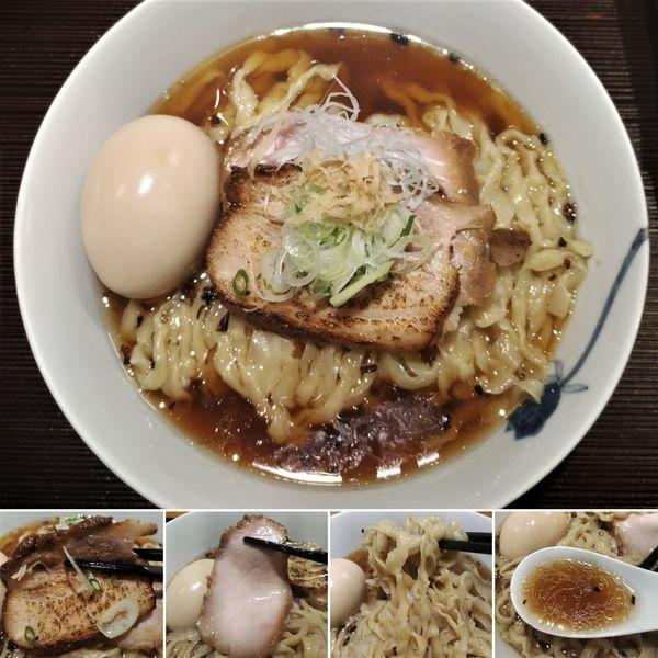 「生姜そば(手揉み麺)+味玉=1000円」@麺 みつヰの写真