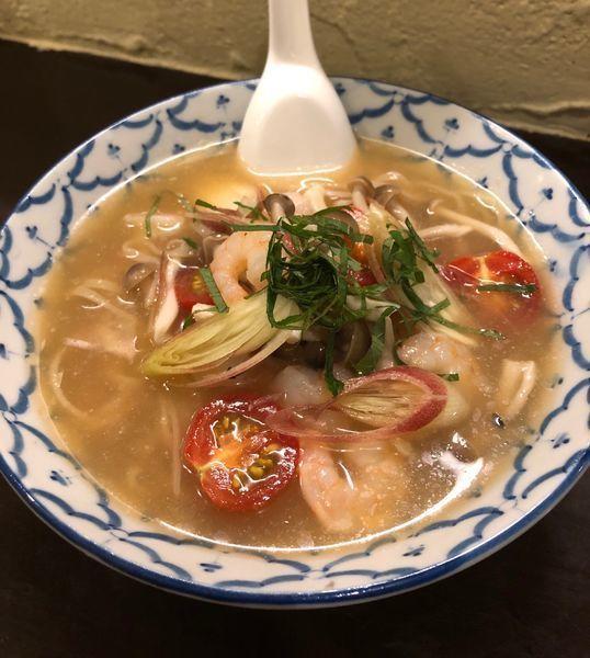 「ゲリラ限定・和風冷やしトムヤム麺¥900」@づゅる麺 池田の写真