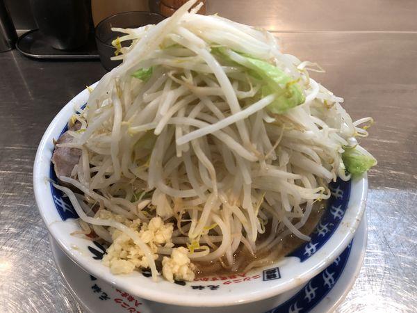 「塩らーめん 野菜マシ ニンニク少し」@ラーメン大 下高井戸店の写真