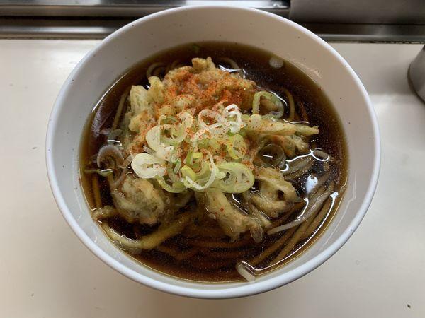 「天ぷらそば 490円」@そば処 弁菜亭の写真