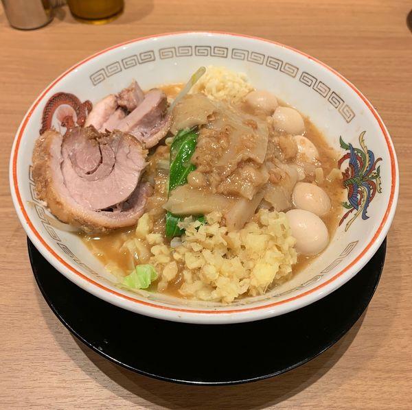 「味噌山ミニ(野菜少な目他¥830)」@ラーメン豚山 上野店の写真
