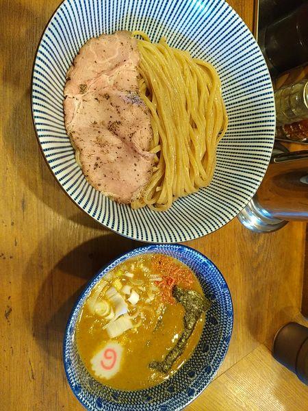 「味噌海老つけ麺(全粒粉麺)」@俺の麺 春道の写真