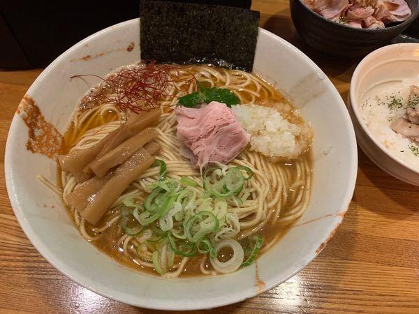 「赤海老と鯵の煮干そば」@麺屋 ひな多の写真