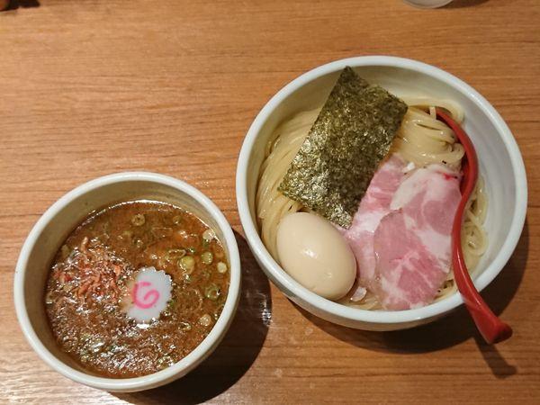 「つけ麺+海老つけ麺変更+煮玉子」@煮干中華そば 鈴蘭 新宿店の写真