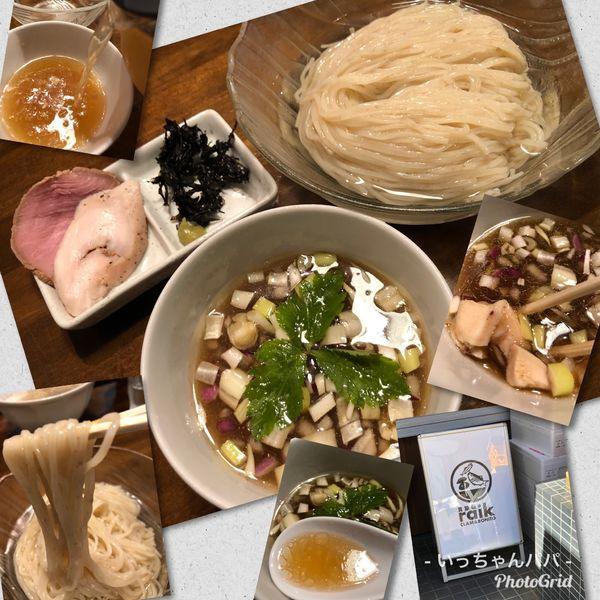 「冷やし煮干しつけ麺 1000円」@CLAM&BONITO貝節麺RAIKの写真