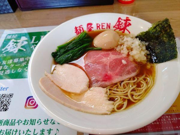 「鶏清湯ラーメン(並盛・140g)780円」@麺屋 錬の写真