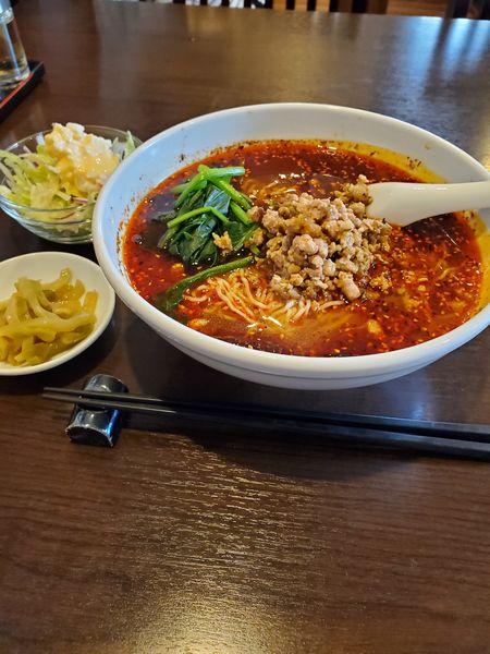 「酸辣麻辣油麺(ランチメニュー)」@中国料理 桜花亭の写真