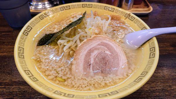 「中華麺  太麺   カタメアブラ多め ¥700」@江川亭 小金井本店の写真