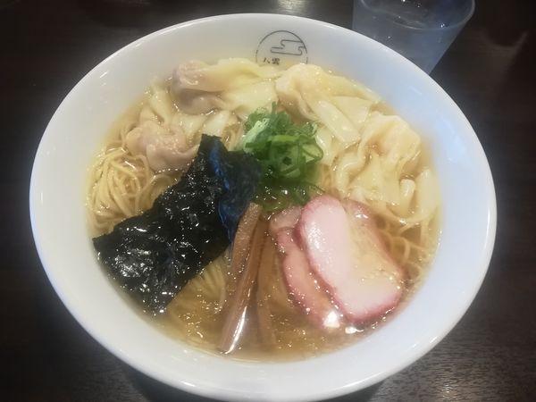 「特製白だしワンタン麺(ハーフ)大盛1100円」@八雲の写真