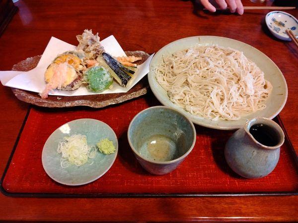 「野菜天せいろそば(並盛)1,160円」@武本庵の写真