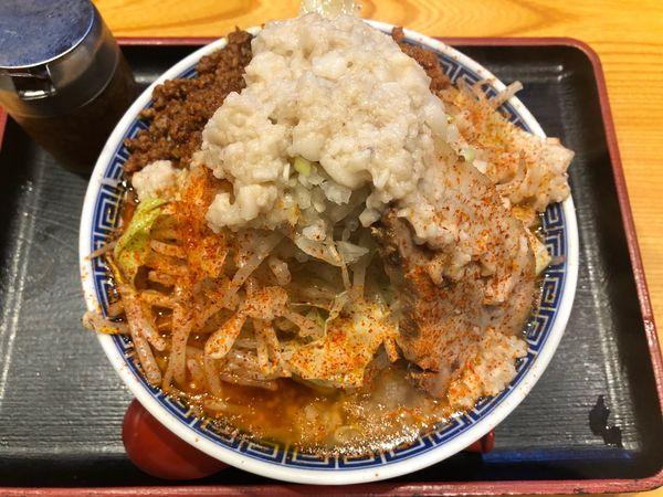 「旨辛角ふじそば」@つくば麺屋こうじの写真
