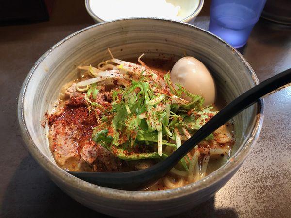 「辛みそらーめん」@麺処 と市の写真