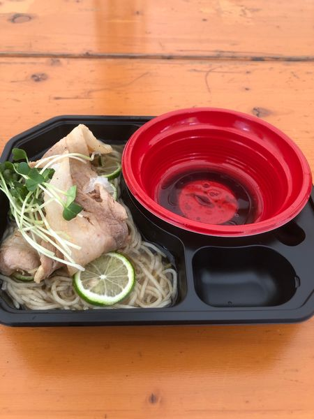「冷やしすだち煮干し蕎麦 鴨油のつけダレ付き」@大つけ麺博 美味しいラーメン集まりすぎ祭の写真
