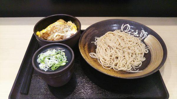 「ミニかつ丼セット(得セット)」@ゆで太郎 谷田部店の写真