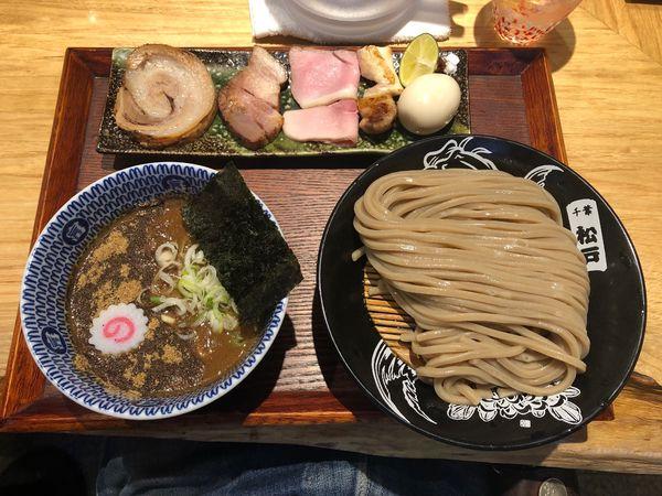 「つけめん(並)+特選全部乗せトッピング」@中華蕎麦 とみ田の写真