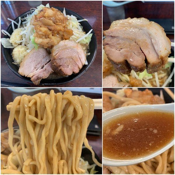 「小ラーメン¥750(麺硬め・ニンニク増し・アブラ)」@ラーメン二郎 めじろ台店の写真