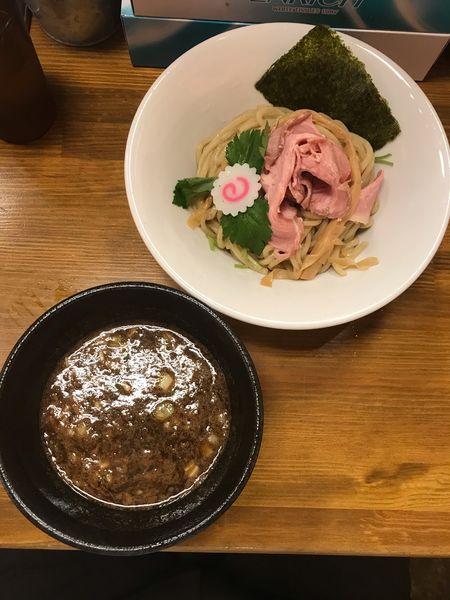 「濃厚魚介つけ麺 880円」@馳走麺 狸穴の写真