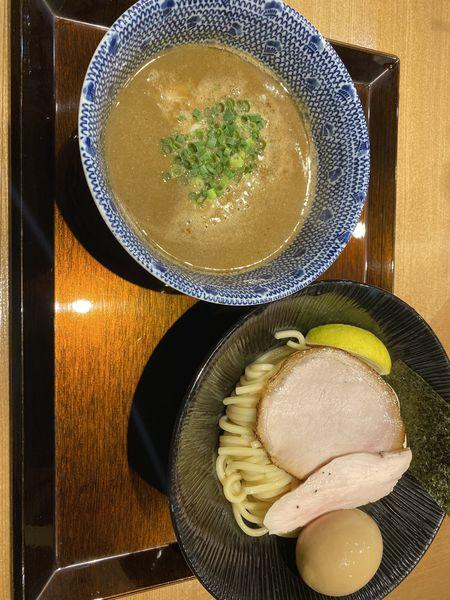 「濃厚つけ麺+味玉」@中華そば 蓮の写真