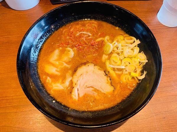 「限定:海老ワンタン味噌らーめん」@しょうゆのおがわや 橋本店の写真