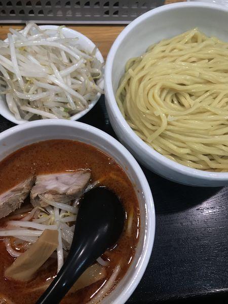 「辛味噌つけめん、野菜」@味噌麺処 花道の写真