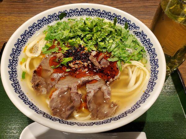 「蘭州牛肉面・蕎麦棱」@馬子禄 牛肉面 東京駅店の写真