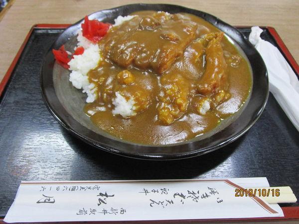 「カツカレーライス 950円」@きそば 松月の写真