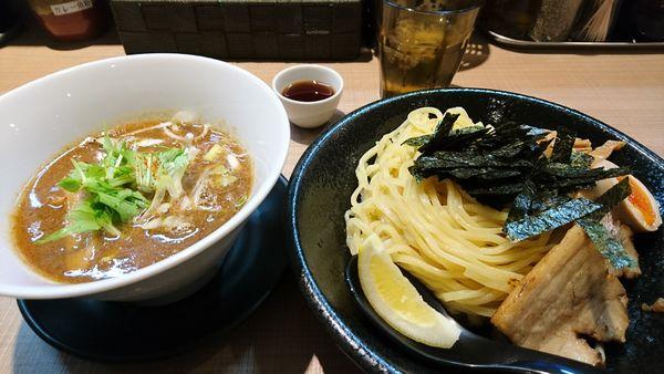 「【夜】炙りホルモンつけ麺」@GaGana RAMENの写真