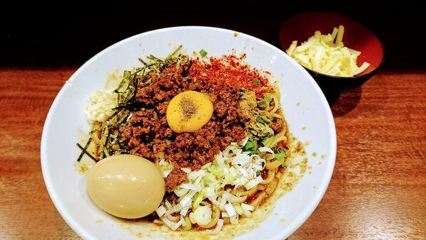 「【限定】台湾まぜそば(ニンニク・トウガラシ)+チーズ・味玉」@麺屋 づかちゃんの写真