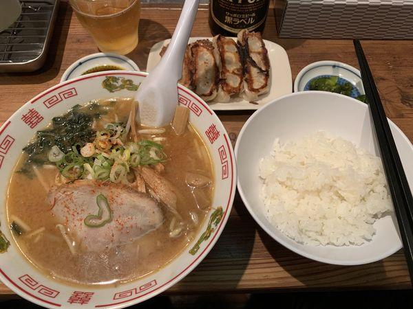 「餃子定食セット 920円」@満龍 南5条店の写真