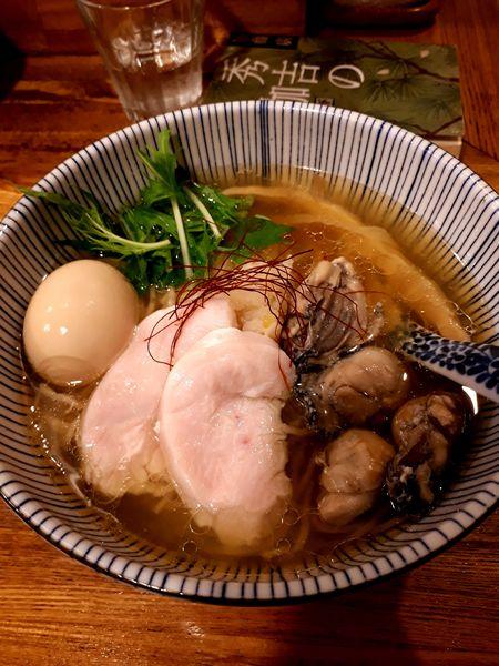 「(昼限定)味玉牡蠣そば1000円」@中華そば きなりの写真