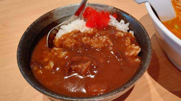 「ミニカレー丼200円」@らーめん酒房 GOCHIの写真