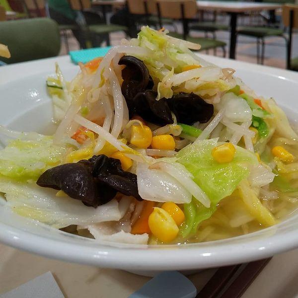 「#たっぷり野菜の塩らーめん #麺増量 #ミニチャーハン」@ポッポ 大森店の写真