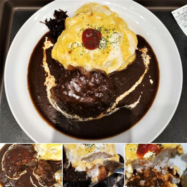 「ハンバーグオムレツカレー(中辛)  720円」@マイカリー食堂 上野店の写真