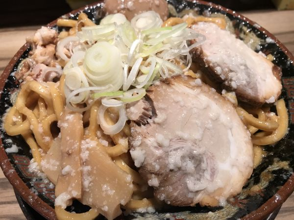 「爆盛油脂麺 880円」@らーめん 平太周 味庵 西大島店の写真
