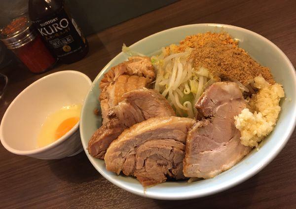 「ラーメン小豚汁なし(ニンニク)」@かじろうramen7の写真