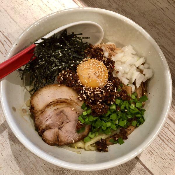 「【限定】誉式 台湾まぜそば 追い飯付き(角煮ひょっこり飯)」@麺屋 誉の写真