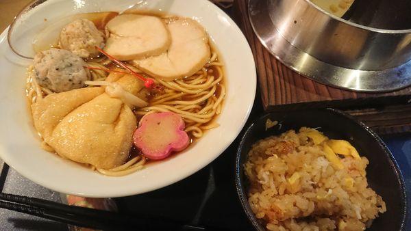 「香住蟹醤油ラーメンセット」@蟹ラーメン専門店 香住 北よしの写真