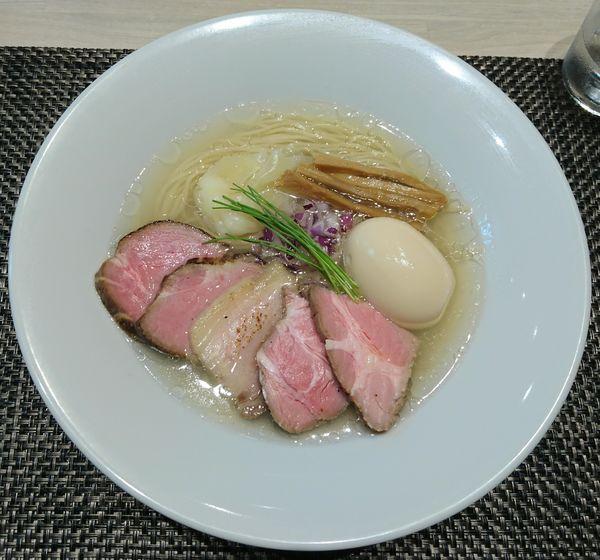 「特製中華蕎麦<塩>」@宍道湖しじみ中華蕎麦 琥珀の写真