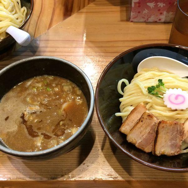 「特製つけ麺(並)1100円」@銀座 朧月の写真