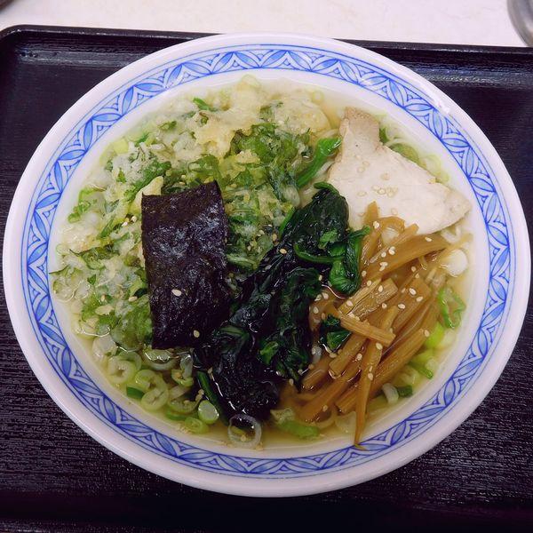 「塩ラーメン(470円)+春菊(110円)」@みまつの写真