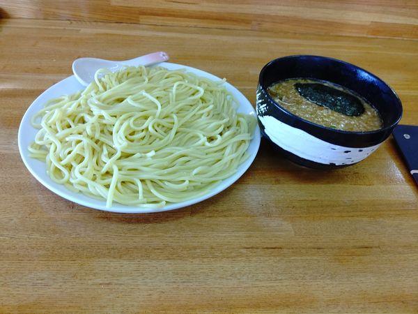 「濃厚醤油つけ麺(並盛・350g)880円」@大勝軒 千代田町店の写真