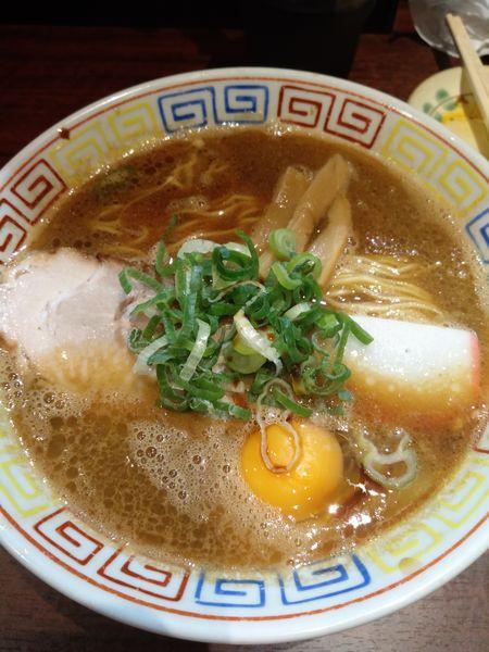 「中華そば(月見そば)」@紀州和歌山ラーメン まっち棒 溝の口店の写真