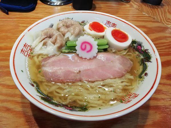 「山椒そば+肉ワンタン二ヶ+味玉」@キング製麺の写真