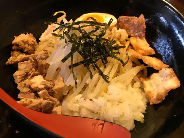 「まぜそば(中盛り麺240g)」@七八の写真