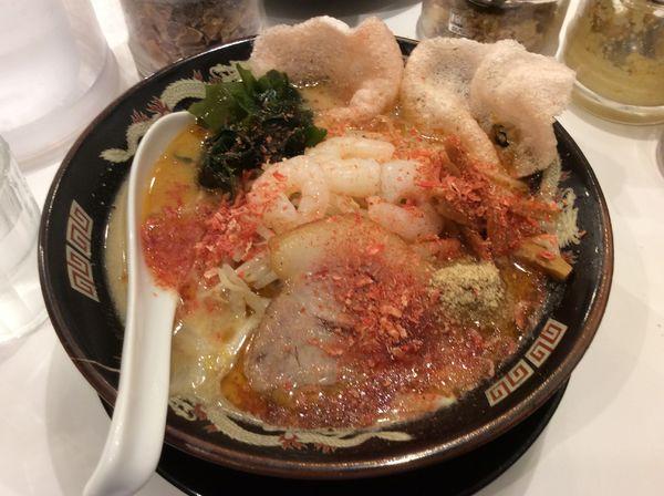 「えび味噌ラーメン」@北海道らーめん みそ熊 新橋店の写真